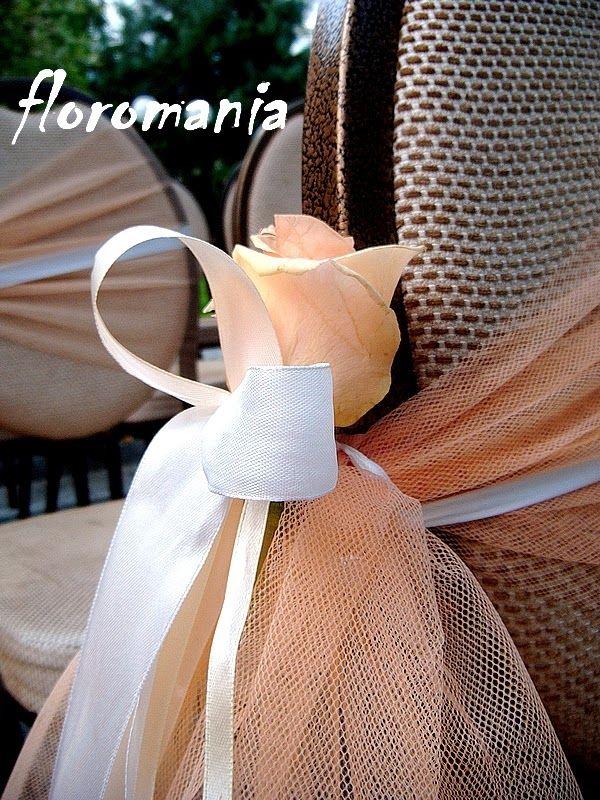 Ślubna dekoracja - krzesło w plenerze