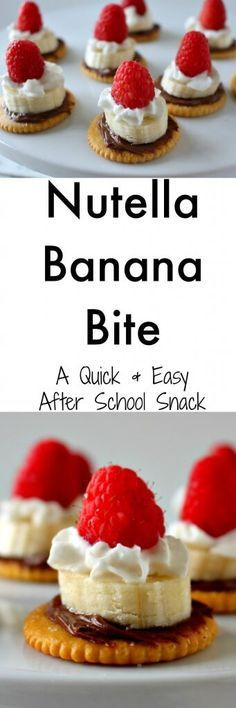 Nutella Banana Bites - quick and delicious and easy after school snack