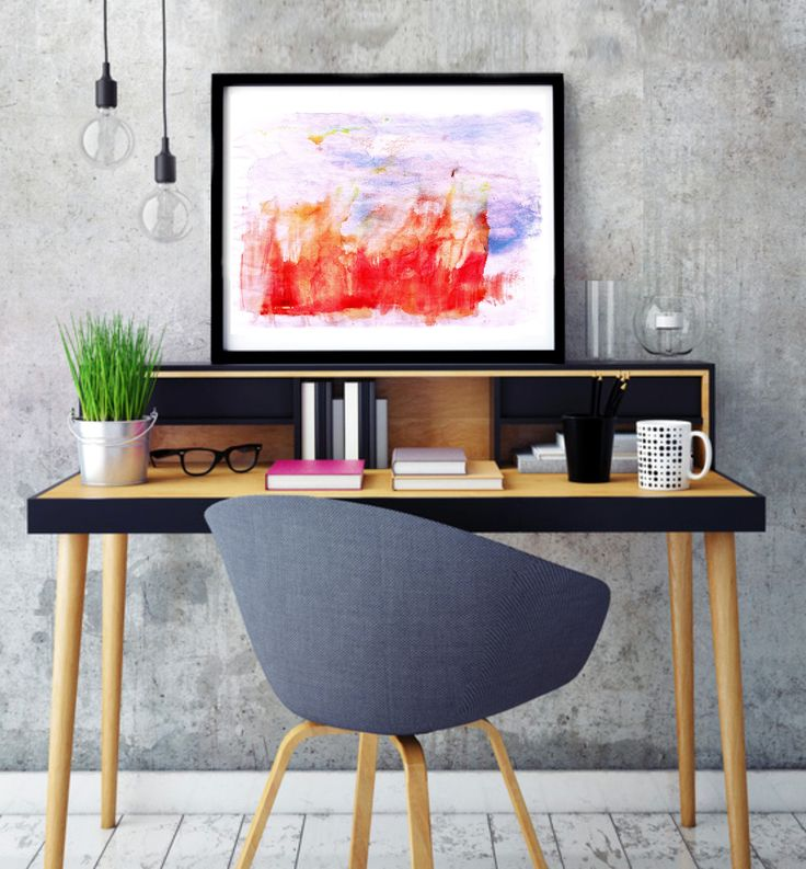 "Poster ""Fiery landscape"", Beautiful poster, Housewarming Gift, Beautiful Poster, Interior Decoration, Abstract Poster, Fire by MerryGallery on Etsy"