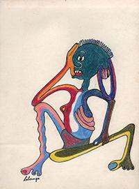 "George Lilanga, ""Misunderstanding,"" 1977"