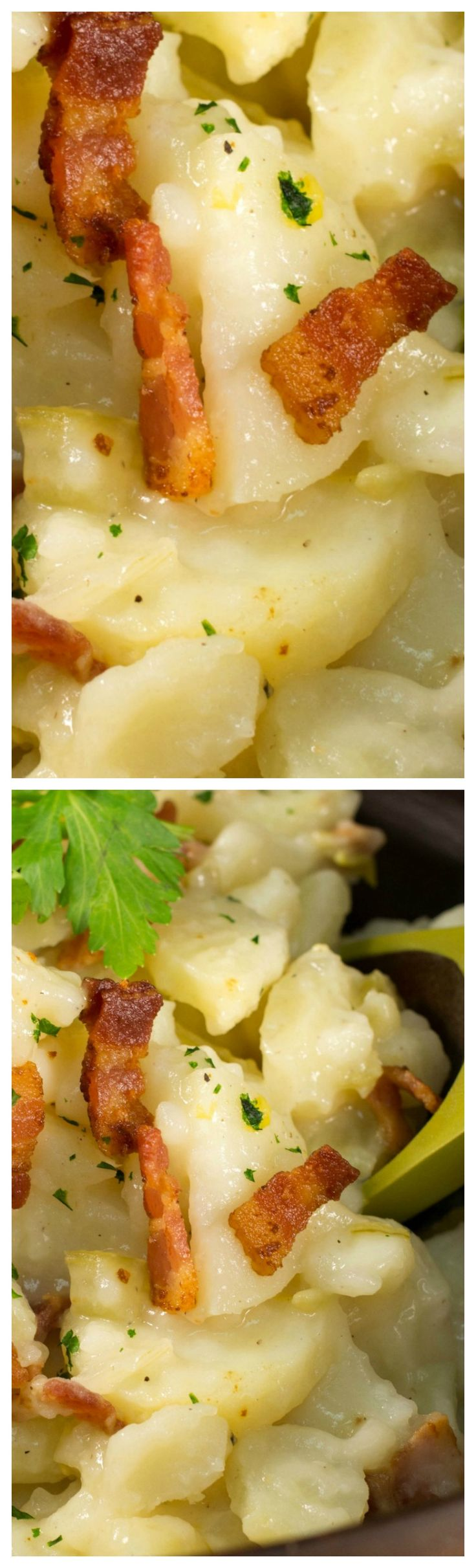 Old-Fashioned Wisconsin German Potato Salad ~ Take it to your next potluck, and it'll be the talk of the buffet table.