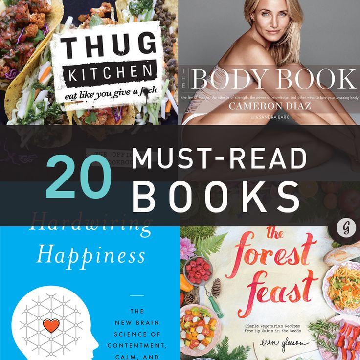 """The 20 Must-Read Fitness, Health, and Happiness Books of 2014 === I'm repinning this just because I'm really intrigued by the """"thug kitchen"""" cookbook."""