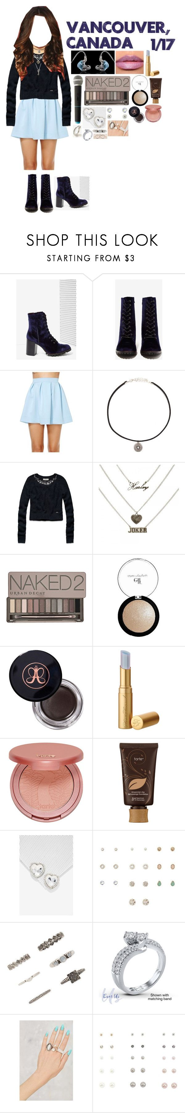 """Vancouver, Canada - 1.17.17"" by gfc-account ❤ liked on Polyvore featuring Report, Honey Punch, Forever 21, Abercrombie & Fitch, Ultimate, Urban Decay, e.l.f., Anastasia Beverly Hills, tarte and Adina Reyter"