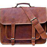 Sac Ordinateur Sac Besace PC Sacoche Travail En Cuir Marron Pour Laptop Portable Et Tablette bandoulière notebook sac bandoulière sac porté…