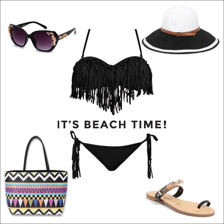 Пляжный черный образ