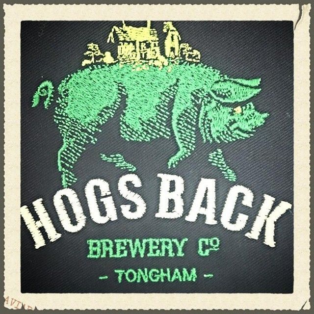 Here is a 3 colour embroidery sample for Hogs Back Brewery. As you can see we have different stitches available to shape and shadow logos.