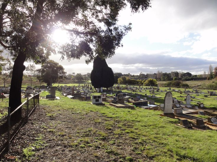 Queanbeyan Riverside Cemetery. Graves are lost when the river floods.