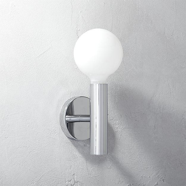 post wall sconce   CB2