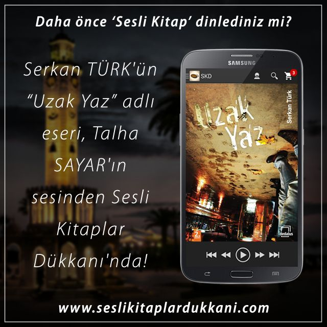 """Serkan TÜRK'ün """"Uzak Yaz"""" adlı eseri, Talha SAYAR'ın sesinden Sesli Kitaplar Dükkanı'nda!"""
