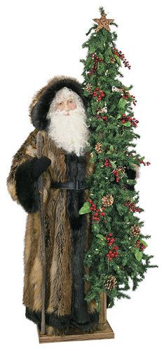 """From the 2014 Ditz Designs collection, the """"Tracker Christmas Father Christmas"""" Display Tree brings the outdoors into your home!"""