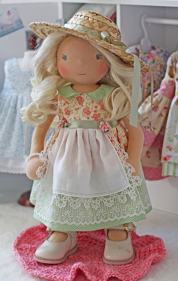 Country Picnic Dress for 18 inch dolls by Olabelhe on Etsy, $45.00