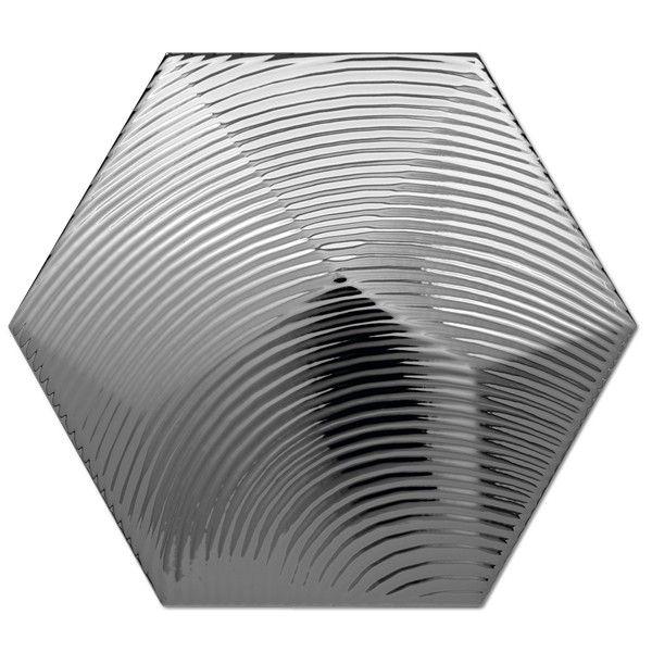 Heksagon Piramidal - płytki ścienne Dec. Piramidal 1 Plata 17x15