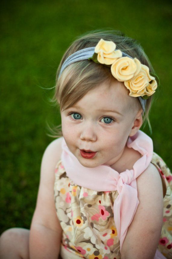 hmmm... more tshirt projectsYellow Flowers, Beanie Baby, Flower Headbands, Cream Headbands, Rosette Headband, Toddlers Headbands, Rose Headbands, Lemon Cream, Tshirt Headbands Baby