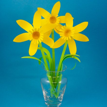 Make some paper daffodils!