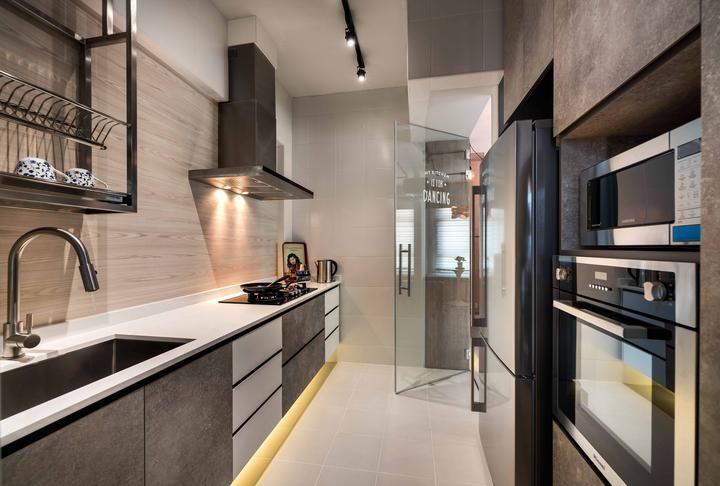 top hung dish rack metal in kitchen singapore