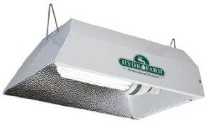 Hydrofarm FLC0125D Fluorescent Grow Light System by Hydrofarm. $72.66. Includes a 125 watt fluorescent bulb that will serve a 3' x 3' growing area. Get an early start on those tomatoes next spring. Garden indoors year-round. Grow flowers, herbs and much more. Easy to install: just hang it up and plug it in. Compact Fluorescent Grow Light System Garden indoors year-round. Grow flowers, herbs and much more! Daylight brightness grows healthy plants. Lightweight fixture weighs...