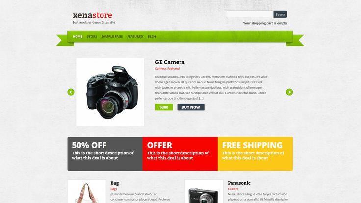 Xenastore WP-Theme - Download: http://www.web2feel.com/xenastore/