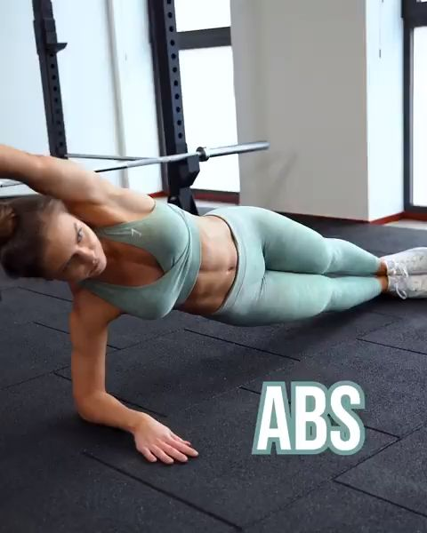 Side plank knee to elbow | 2 x 10 – 12 per side! Training abs can help with incr…