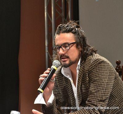 Chef Alessandro Borghese wearing Maison Lvchino
