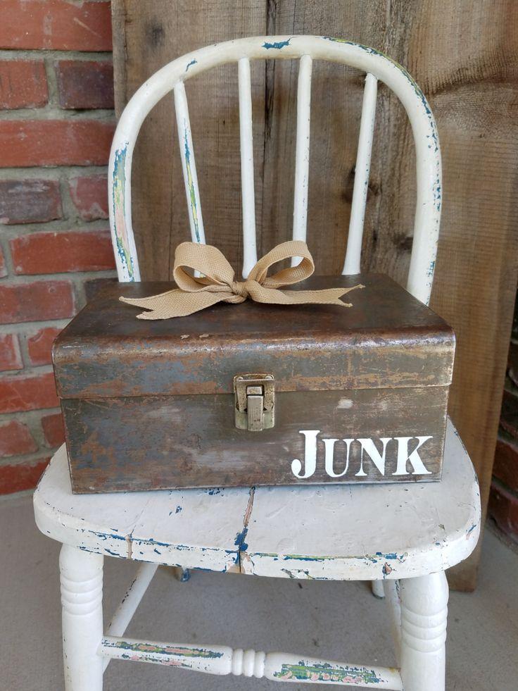 I Really love this, from the Etsy shop LoveTheJunk. http://etsy.me/2tnKnub #etsy #furniture #storage #toolbox #vintagetoolbox #metaltoolbox #utilitybox #junkbox #metaljunkbox #junk