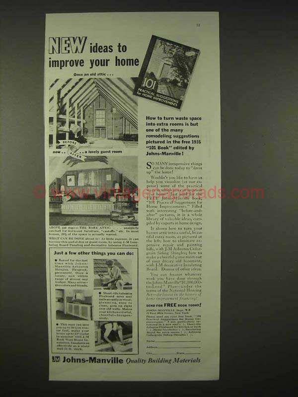 Bh0915 1935 Johns Manville Insulation Asbestos Ad Improve Manville Mesothelioma Improve