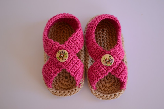 sandalias para bebe | crochet | Pinterest