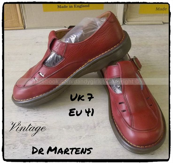 Dr. Martens MIE rouge bordeaux Made in England Vintage Uk 7 Eu41 #dandygirl65