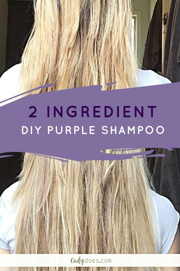 2 Ingredient Diy Purple Shampoo With Images Diy Hair Toner