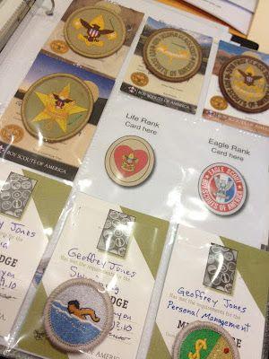 Scouting and merit badge organization binder
