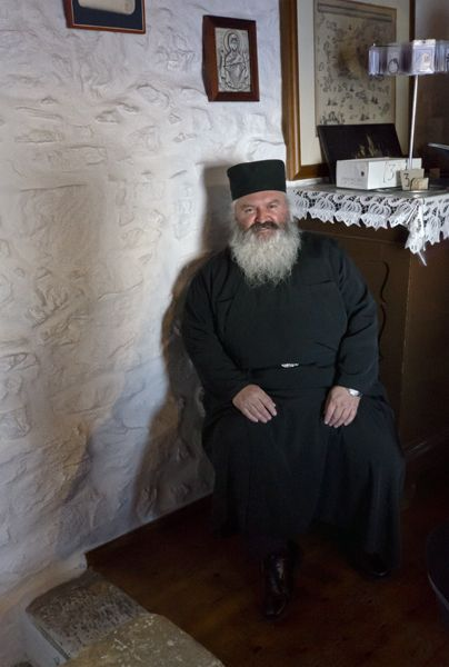 Monk at the Monastery of Hozoviotissa, Amorgos island