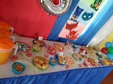 Festa do Afonso que festejou 5 aninhos o tema foi PJ MASKS. Peça já a sua festa antes que esgote...