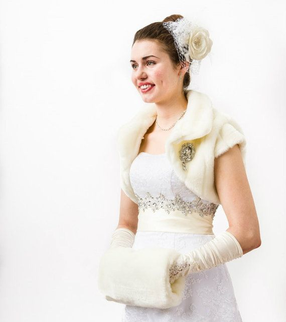 Hey, I found this really awesome Etsy listing at http://www.etsy.com/listing/162515475/ivory-faux-fur-bolero-jacket
