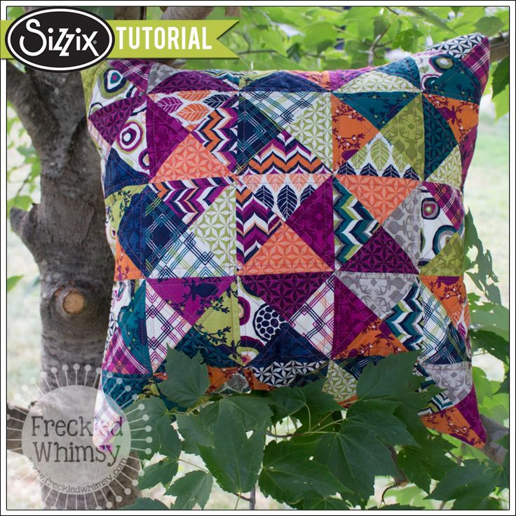 Sizzix Tutorial | Hip to be Square Pillow Cover by Karrie Winters