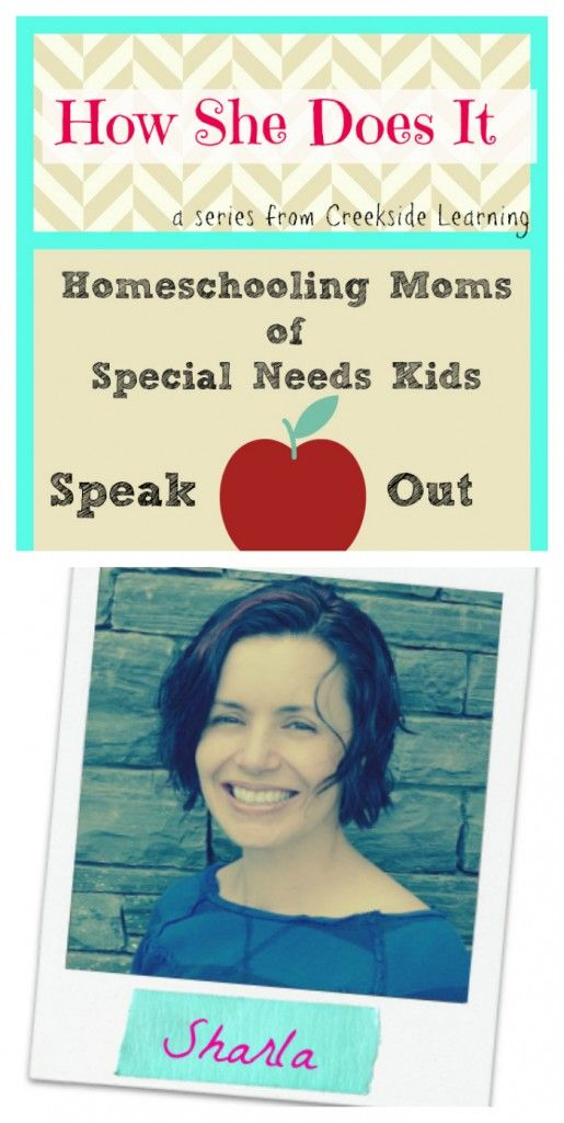 How She Does It: Homeschooling Moms of Special Needs Kids {Sharla}