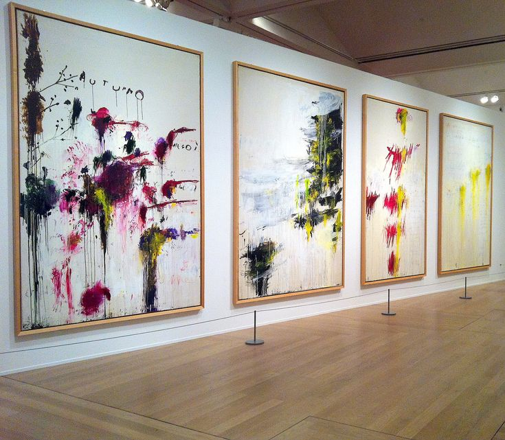 Cy Twombly, Quattro Stagioni ( A Painting in Four Parts ) Tate London 2011