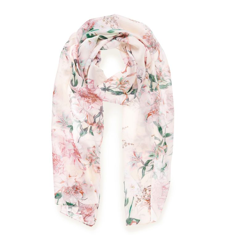 Fleur Printed Scarf Blush Floral - Womens Fashion | Forever New