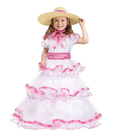 Look what I found on #zulily! White & Pink Southern Belle Dress-Up Set - Toddler & Girls #zulilyfinds