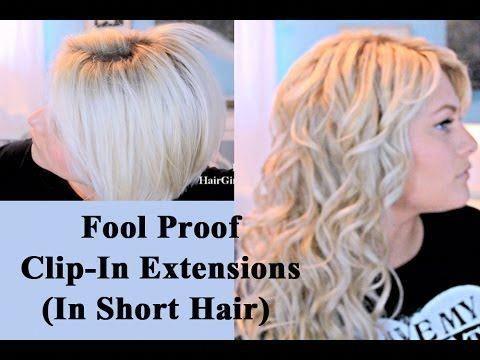 Easiest Way To Blend Extensions In Short Hair! #reallyShorthair