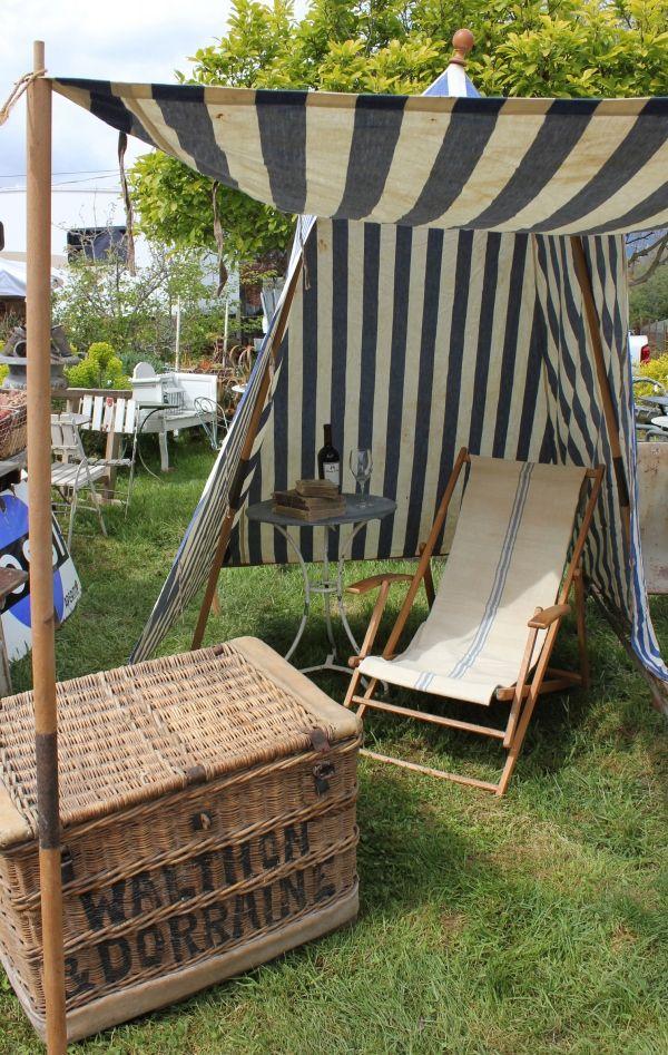 A wonderful, French maritime styled beach hut et al by Atelier de Campagne.