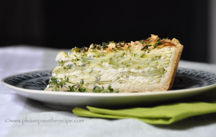 Zucchini Oatmeal Tart with lemon feta thyme and fennel