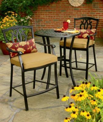 Country Living  Highland 3 Pc. High Bistro Set Outdoor Living Patio  Furniture