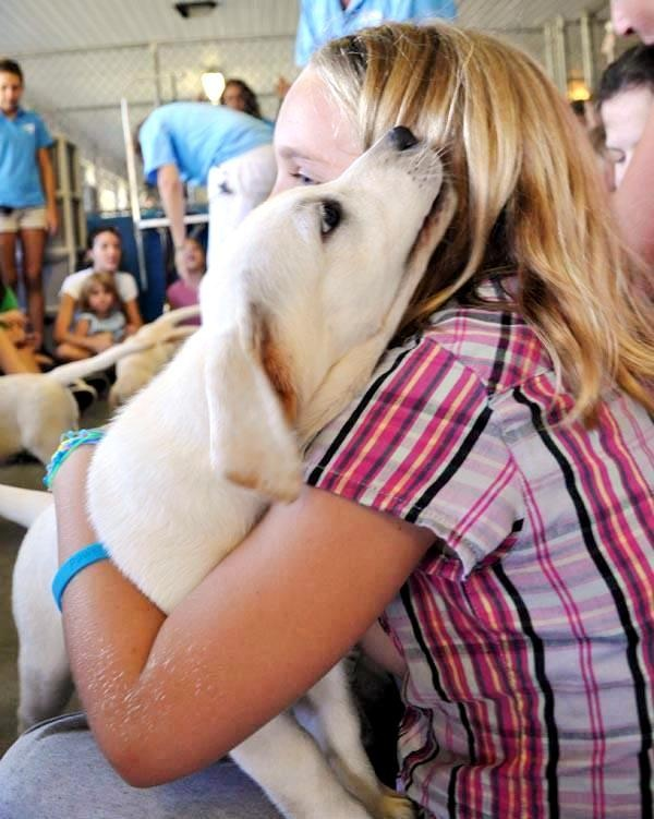 Southeastern Guide Dogs Puppy Hugging