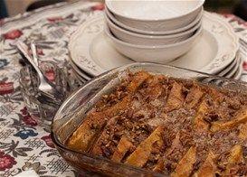 Αβγόφετες στο φούρνο με κανέλα και καρύδια