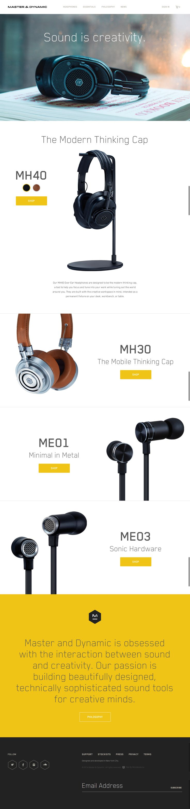 Premium headphones at Master & Dynamic designed to use at your workspace.