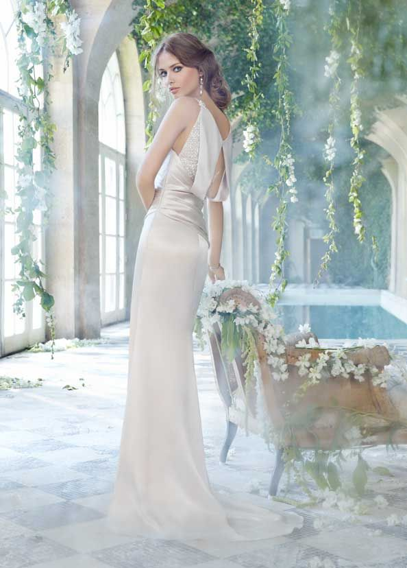 82 best Charmeuse Wedding Gowns images on Pinterest | Short wedding ...