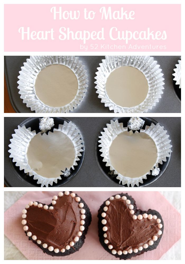 How to make heart shaped cupcakes - it's so easy!