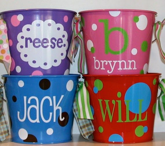 Cherie Amour: Personalized Easter Buckets & a Touch of Spring...