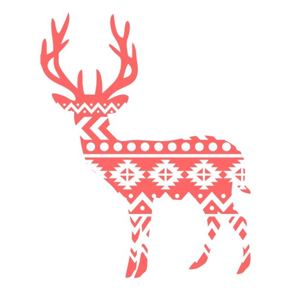 Aztec Print Reindeer Cuttable Designs
