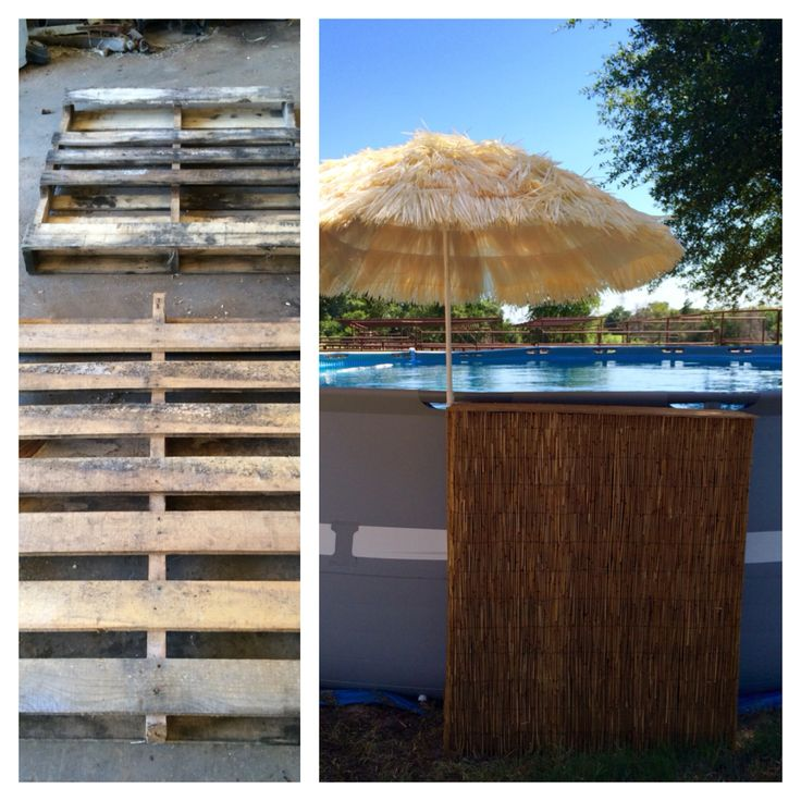 1000 images about pool ideas on pinterest above ground for Above ground pool decks made from pallets
