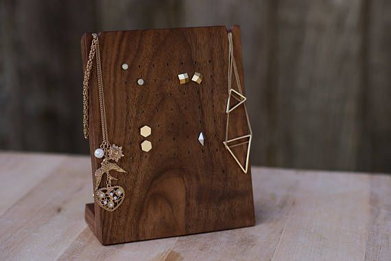 Wooden Earring Display Stand / Stud Earring Display / Necklace